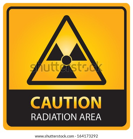 Caution with radiation area text and sign isolated.JPG