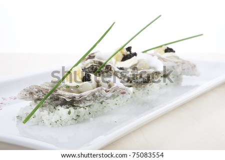 caviar,seafood,delicious,mussels,restaurant - stock photo