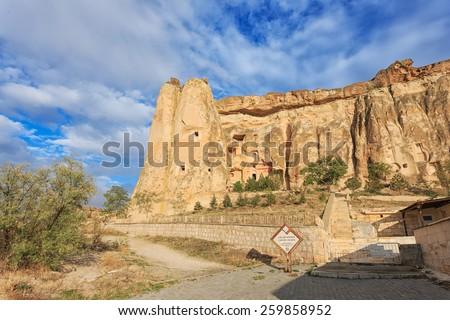 Cavusin Church at Cappadocia - stock photo