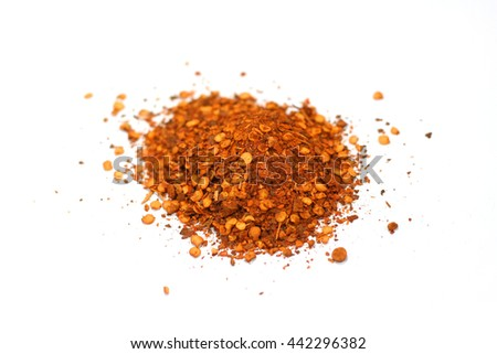Cayenne pepper, ground dried chillies. - stock photo