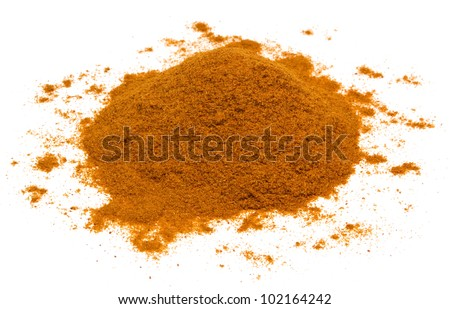 Cayenne pepper isolated on white background. - stock photo