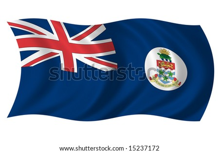 Cayman Islands Flag (more flags in my portfolio) - stock photo