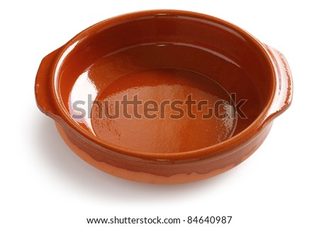 cazuela de barro , spanish earthenware casserole