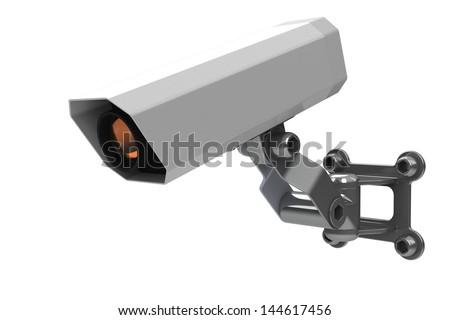 cctv camera - stock photo