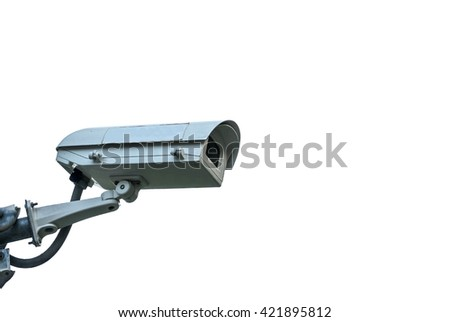 cctv camera on isolate,white background - can use to montage product or secure concept