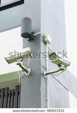 CCTV cameras installed along the walls. To help monitor what is happening in general.