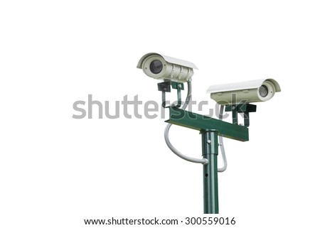 cctv cameras on white background