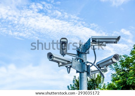 CCTV outdoor on the sky