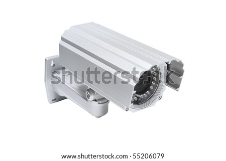 CCTV Surveillance Camera System with CMOS or CCD sensor - stock photo
