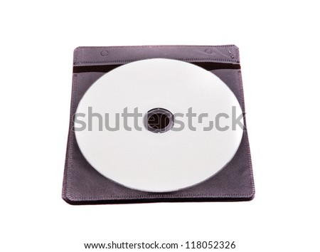 cd and cd case on white backgrounds - stock photo