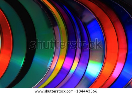 cd and dvd background - stock photo