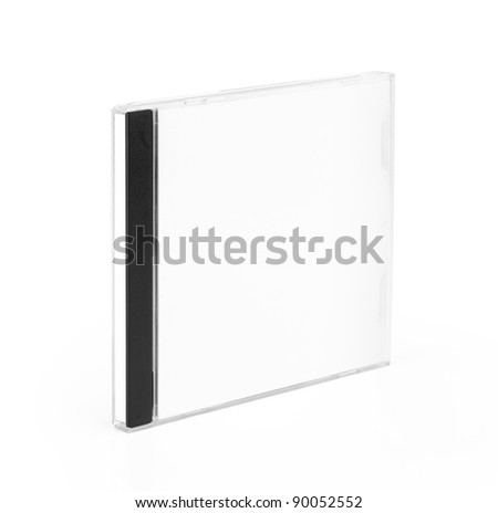 CD Case close isolated on white background - stock photo