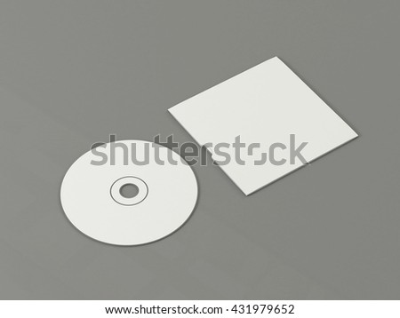 CD Disc Carton Packaging Cover Template Stock Illustration 431979652 ...