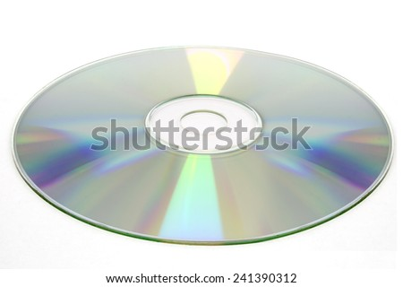 cd disc on white background, cd-r, cd-rw isolated - stock photo