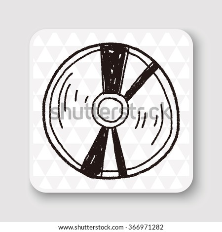 cd doodle - stock photo