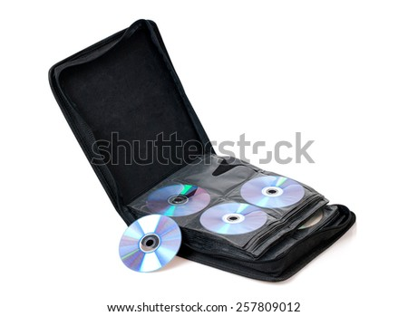 CD/DVD bag - stock photo