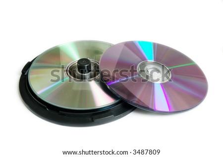 CD DVD Cake box tub - stock photo
