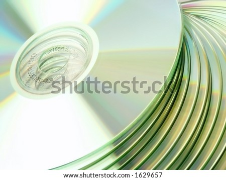 CD / DVD. Close-Up view. - stock photo