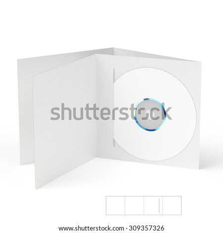 CD & DVD Folder Brochure with Die Line Template