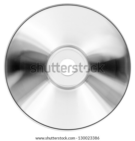 CD DVD for audio and video data recording isolated over white background