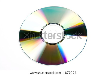 CD/DVD isolated on a white background