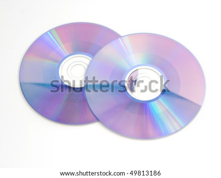 cd dvd isolated on white - stock photo