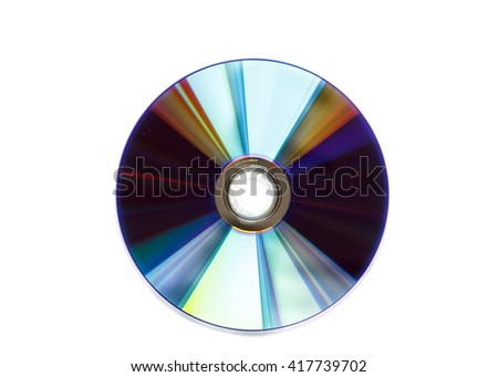 CD,DVD isolated on white background - stock photo