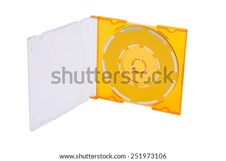 CD in box on white background - stock photo