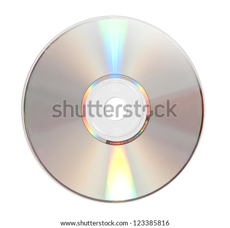 cd isolated in white background