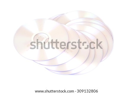CD isolated on White  - stock photo