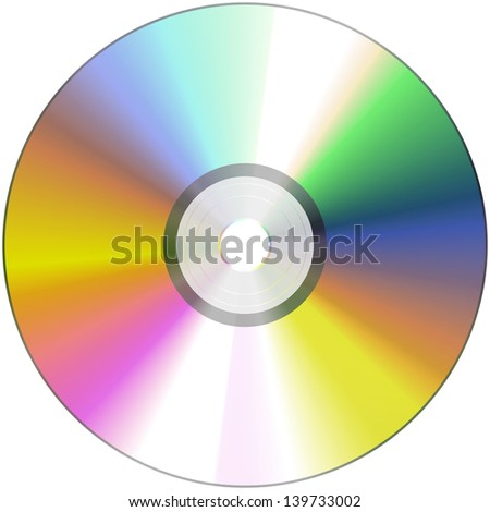 CD - isolated on white background
