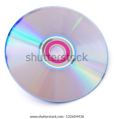 CD isolated on white background with shadow - stock photo