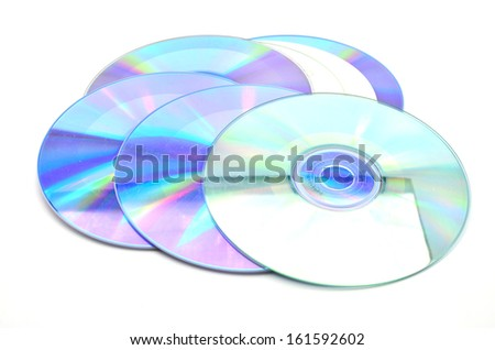 CD on a white background. - stock photo
