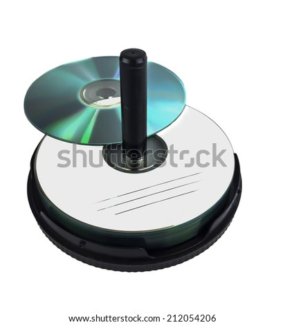 CD on white background - stock photo