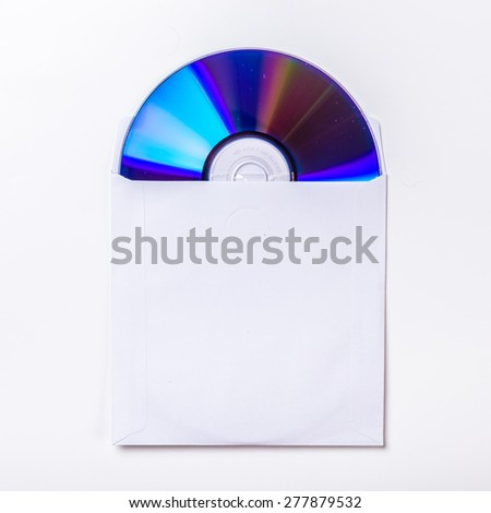 CD or DVD inside cover - stock photo