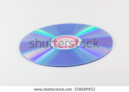 CD or DVD isolated on white backgrounds - stock photo
