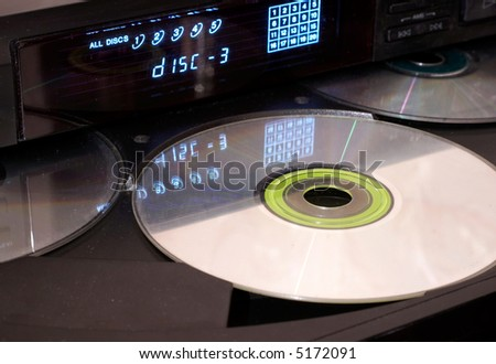 CD player with open tray - stock photo