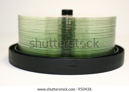 cd stack 01 - stock photo