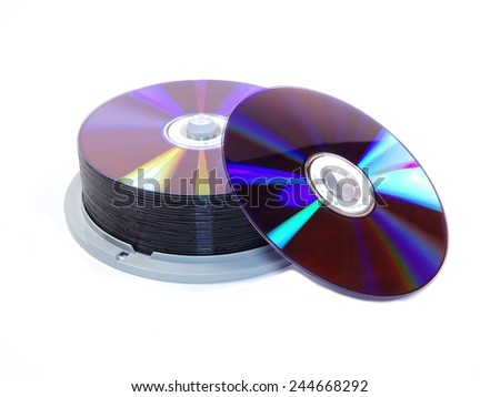 CD Stack isolated on white background - stock photo