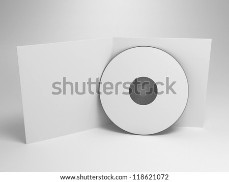 cd with opened cover - render - stock photo