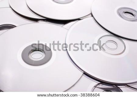 CDs - stock photo