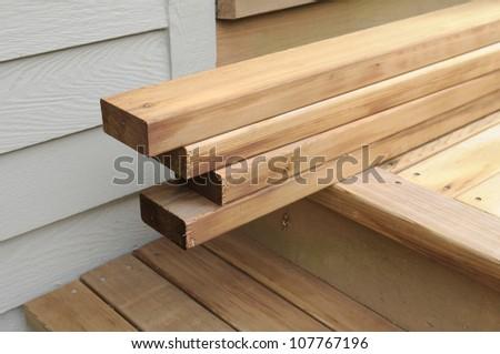 Cedar Boards - stock photo