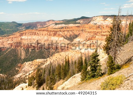 Cedar Breaks canyon of colorful rock formations