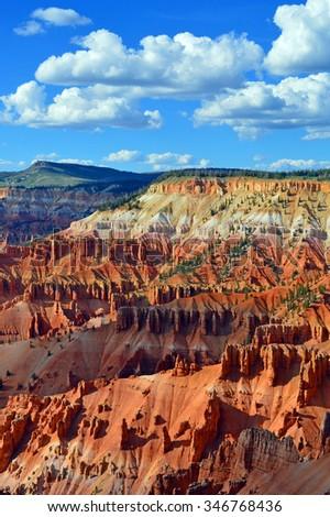 Cedar Breaks National Monument in Utah. - stock photo