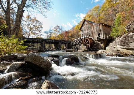 Cedar Creek Grist Mill - stock photo
