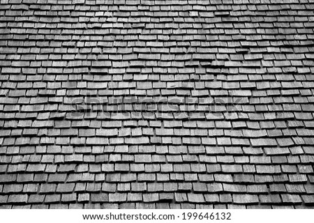 Cedar wood roof shingles texture and pattern - stock photo