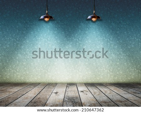 Ceiling lamp with ground wood - stock photo