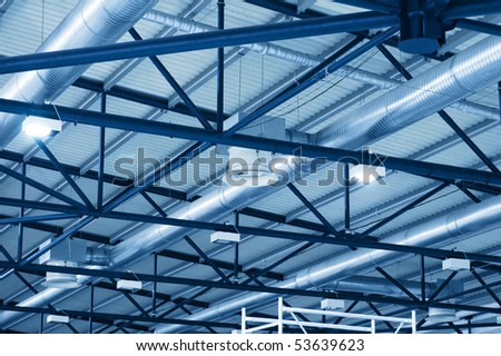ceiling of the factory - stock photo