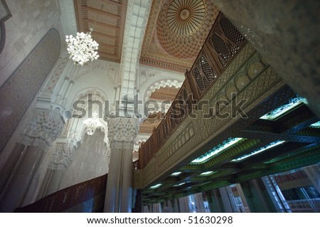 Ceiling of the Hassan II Mosque