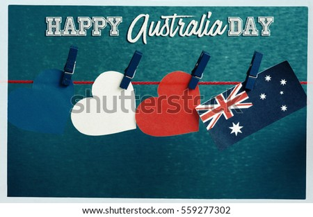 Celebrate australiaday holiday on january 26 stock photo 559277302 celebrate australia day holiday on january 26 with a happy australia day message greeting written m4hsunfo